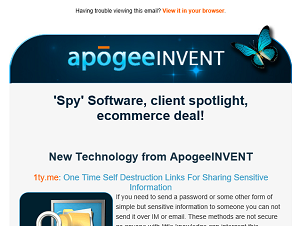 Apogee INVENT Newsletter