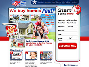 Cash House Buyers website